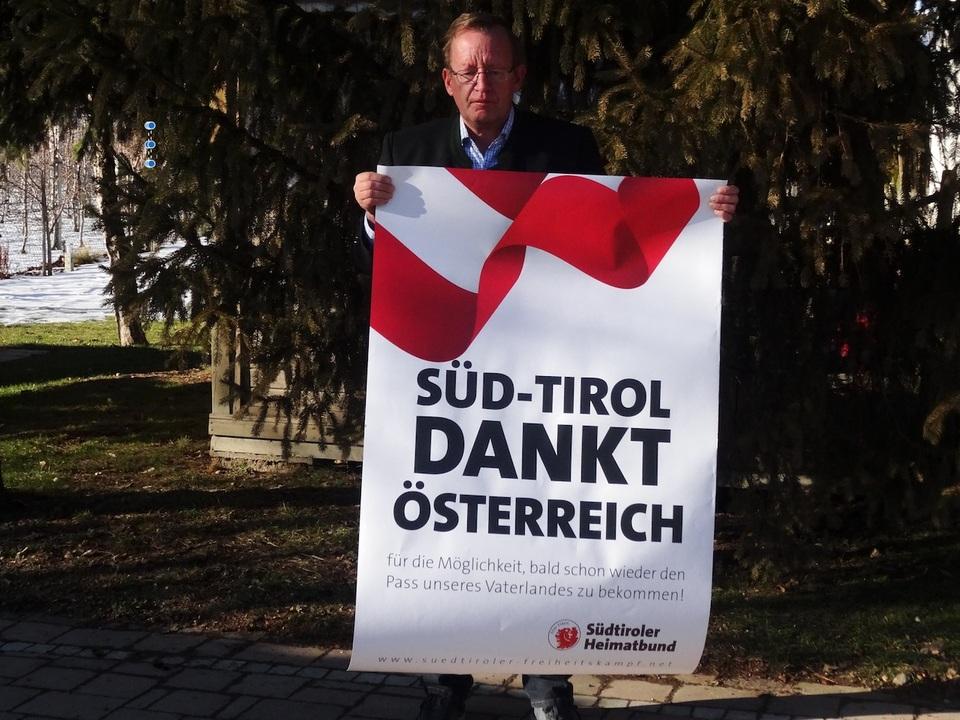 Plakat Wien mit SHB Obmann Lang