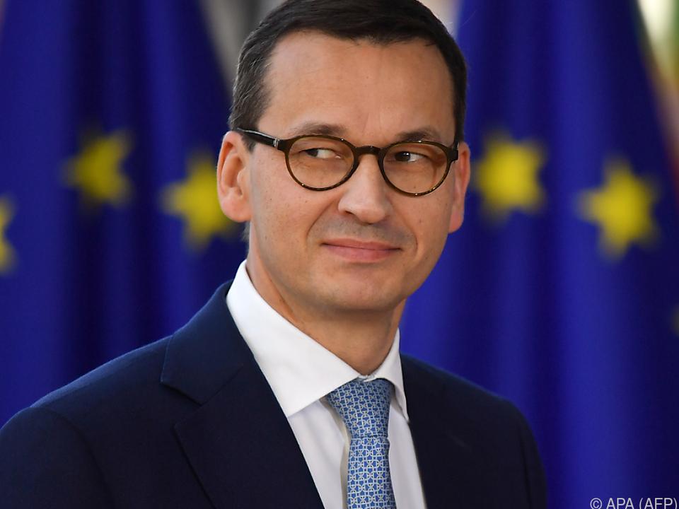Polens Regierungschef Mateusz Morawiecki