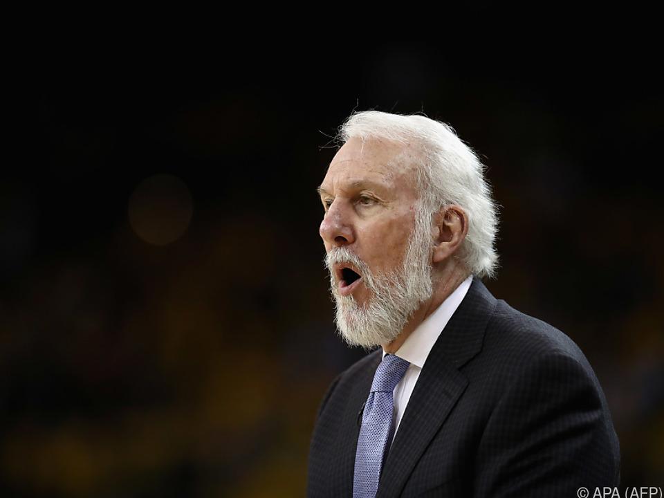 Popovich führte die Spurs schon zu fünf Titeln