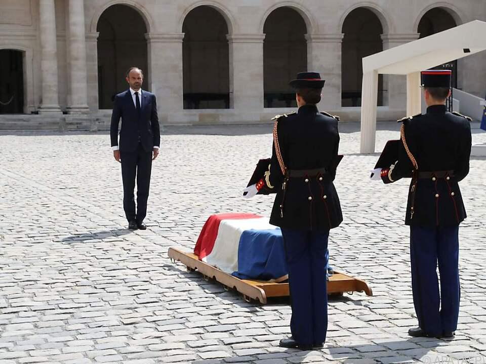 Premierminister Edouard Philippe würdigte den Verstorbenen