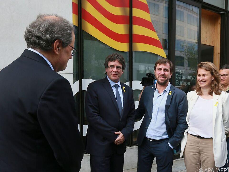 Puigdemont bei seiner Ankunft in Brüssel