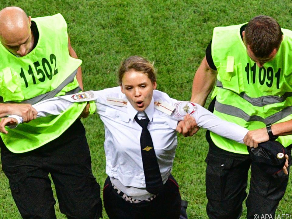Pussy Riot narrte Sicherheitsleute