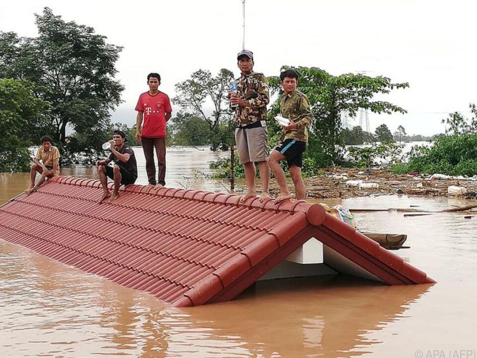 Sechs Dörfer wurden überschwemmt