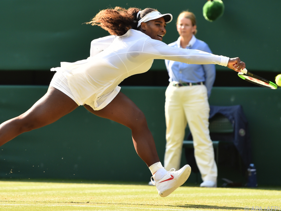 Serena Williams in ihrem Element