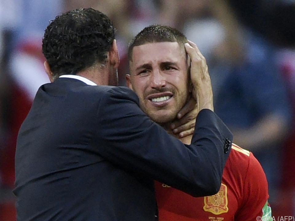 Spanien weinte bittere Tränen wie hier Sergio Ramos