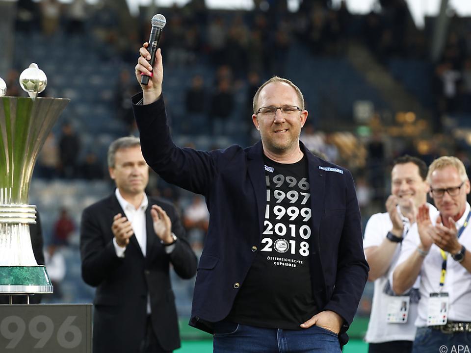 Sport-Geschäftsführer Kreissl will seine Spieler künftig teurer verkaufen