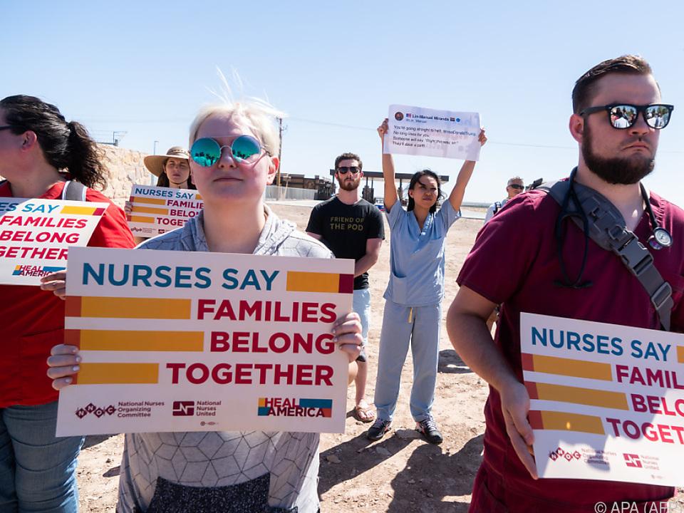 US-Bürger demonstrieren gegen die Trennung von Familien
