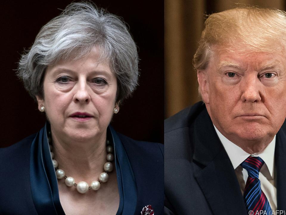 US-Präsident und May auf Konfrontationskurs