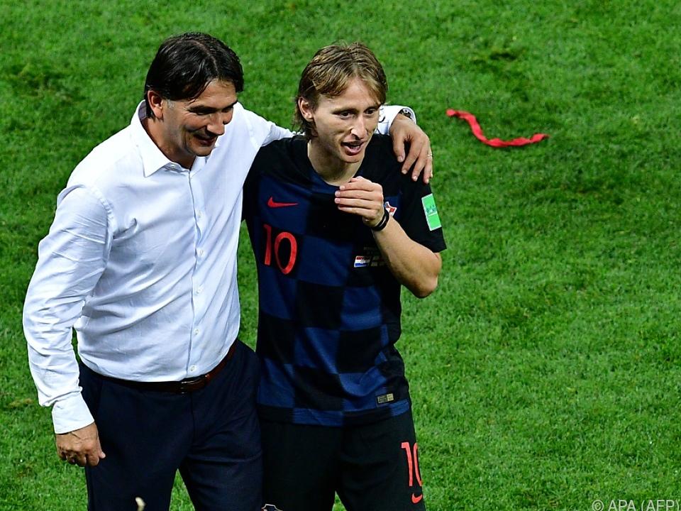 Väter des Erfolgs: Trainer Zlatko Dalic und Kapitän Luka Modric