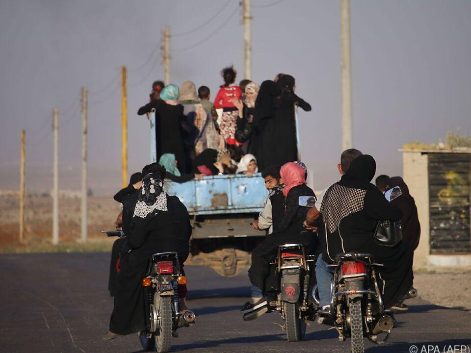 Vertriebene bei ihrer Rückkehr in der Provinz Daraa