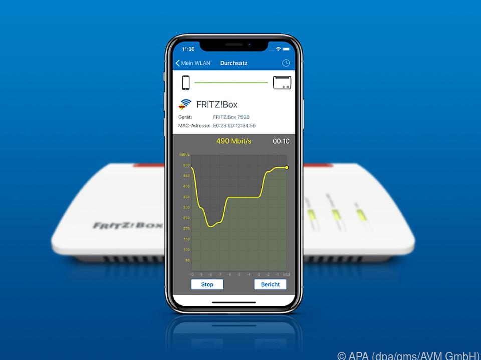 Wie flott ist das WLAN? Die neue Fritz-App zeigt es auch auf iOS-Geräten an