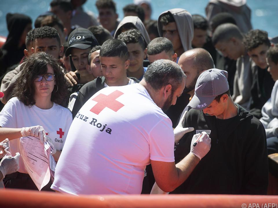 Zuletzt kamen vermehrt Migranten über das Meer nach Spanien