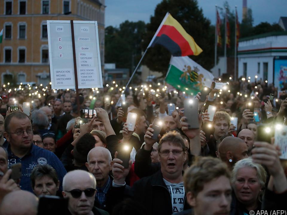 900 Personen folgten Aufruf von Pro Chemnitz