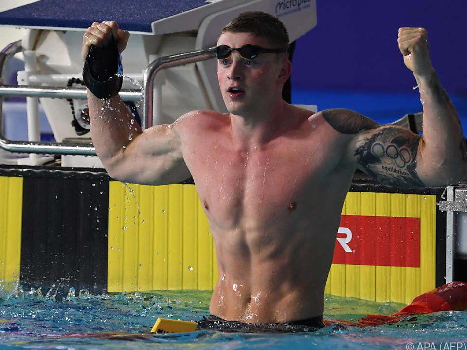 Adam Peaty gewann auch die 50 m Brust