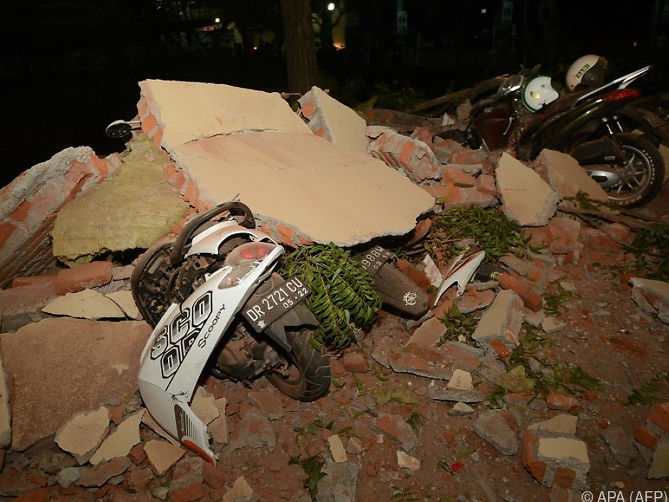 Auch auf Bali sorgte das Erdbeben für Zerstörungen