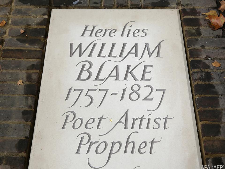 Blake liegt auf einem Friedhof in London begraben