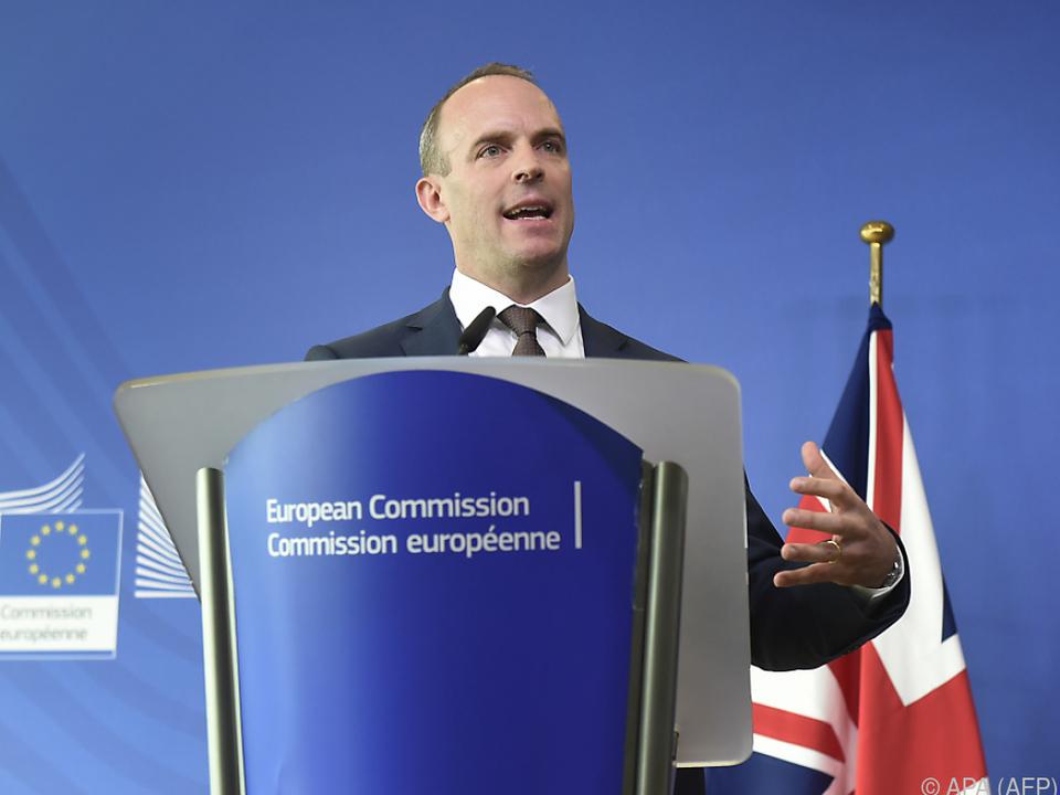 Brexit-Minister Raab will für den Fall der Fälle gerüstet sein