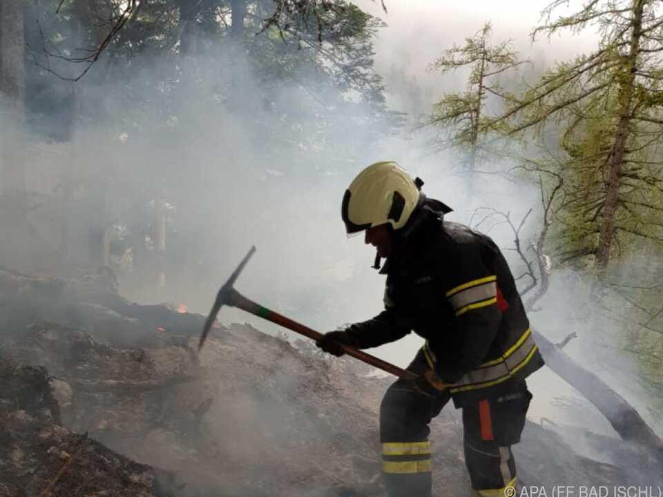 Das Feuer wurde am Freitag von einem Jäger entdeckt