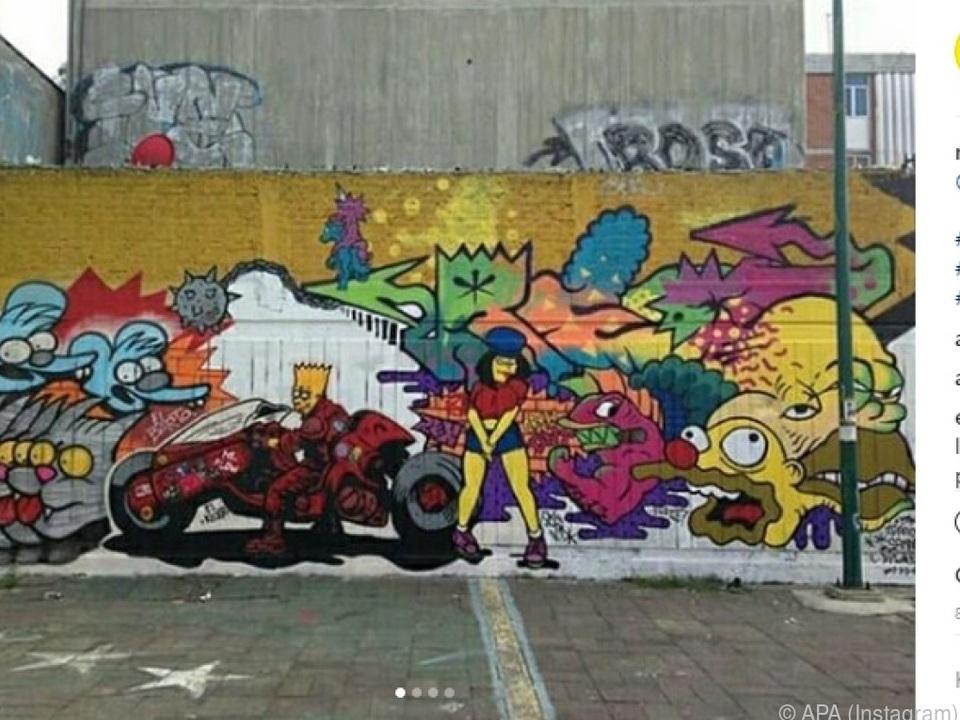 Das Künstler-Kollektiv Night Lords erschuf ein Street Art-Springfield