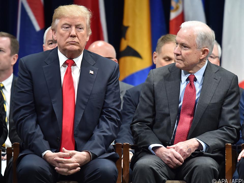 Das Verhältnis zwischen Trump und Sessions war schon deutlich besser