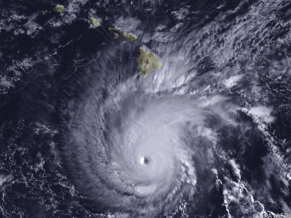 Der Hurrikan gefährlich nahe bei Hawaii