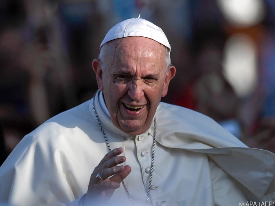 Der Papst sprach von \