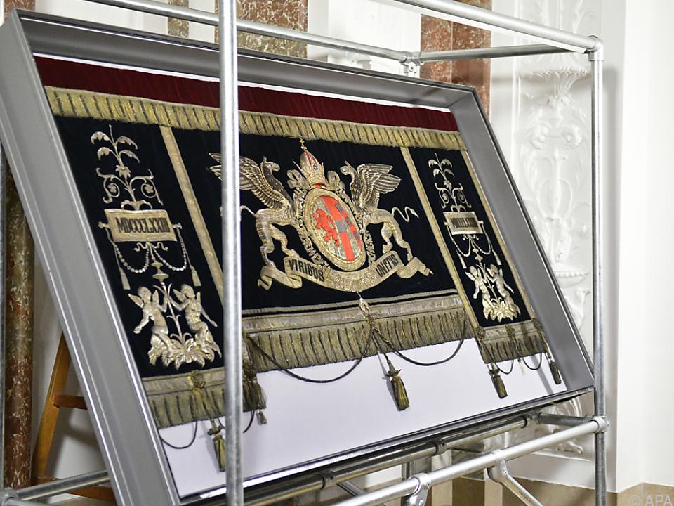 Der Wandbehang wurde bei Renovierungsarbeiten im Parlament entdeckt