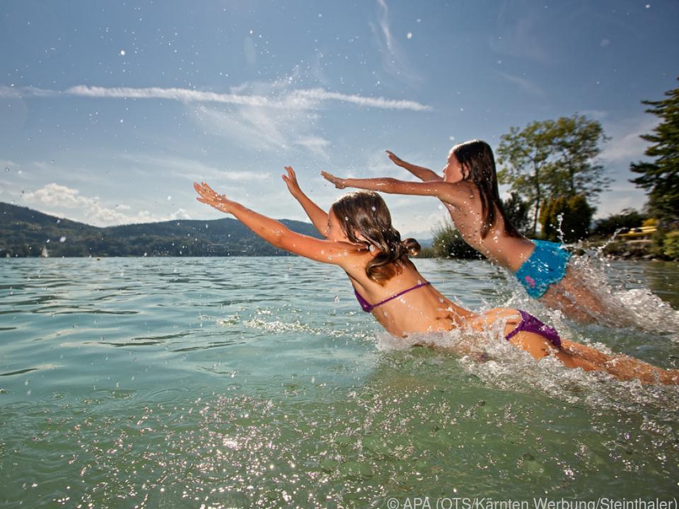Der Wörthersee heizte sich in nicht einmal 40 Jahren um zwei Grad auf hitze sommer schwimmen urlaub
