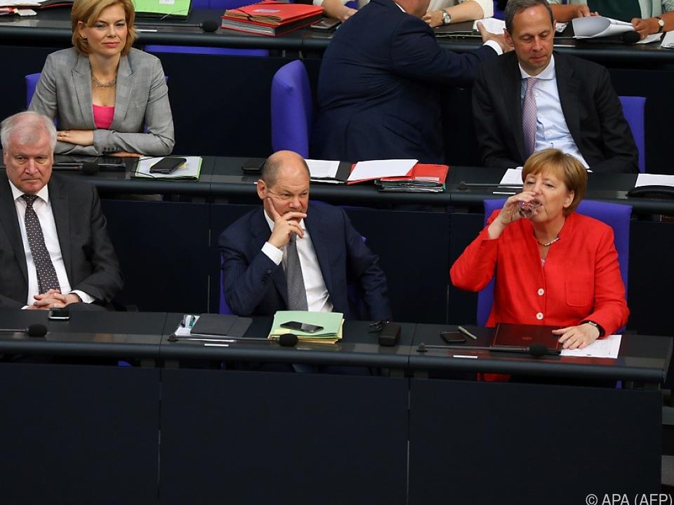 Die deutsche Bundesregierung hat andere Sorgen
