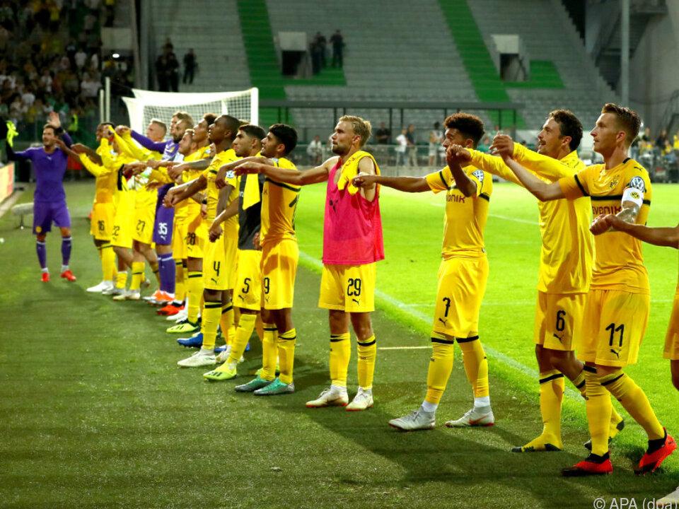Die Dortmunder zitterten sich eine Runde weiter