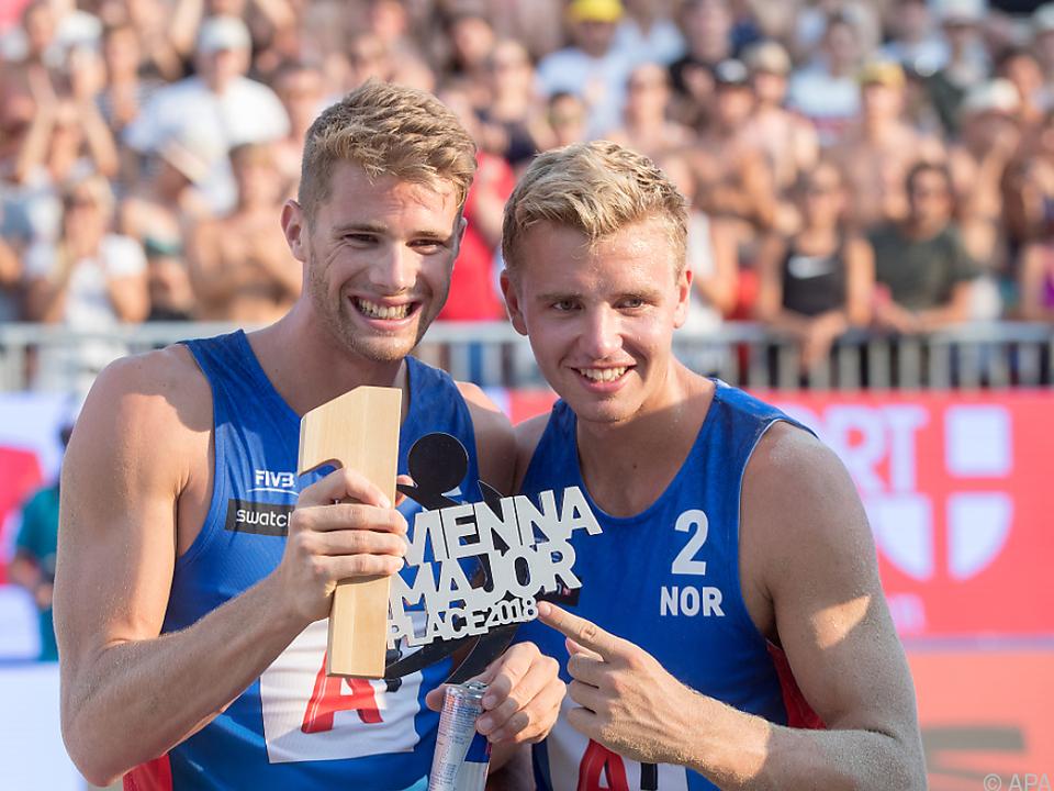 Die Norweger sind derzeit die besten Beach-Volleyballer