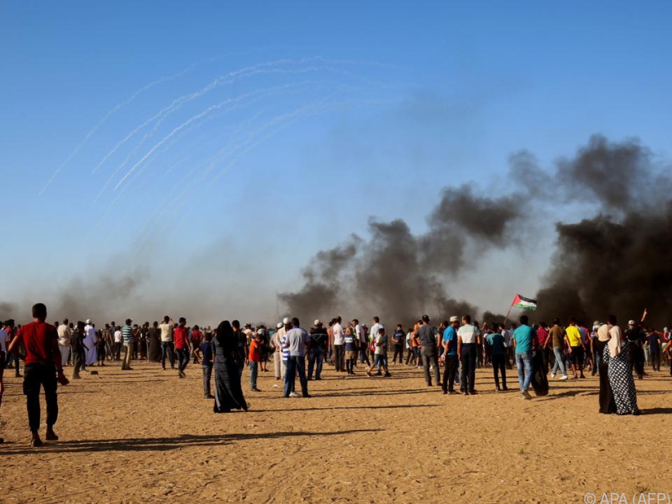 Die Palästinenser fordern ein Ende der Gaza-Blockade