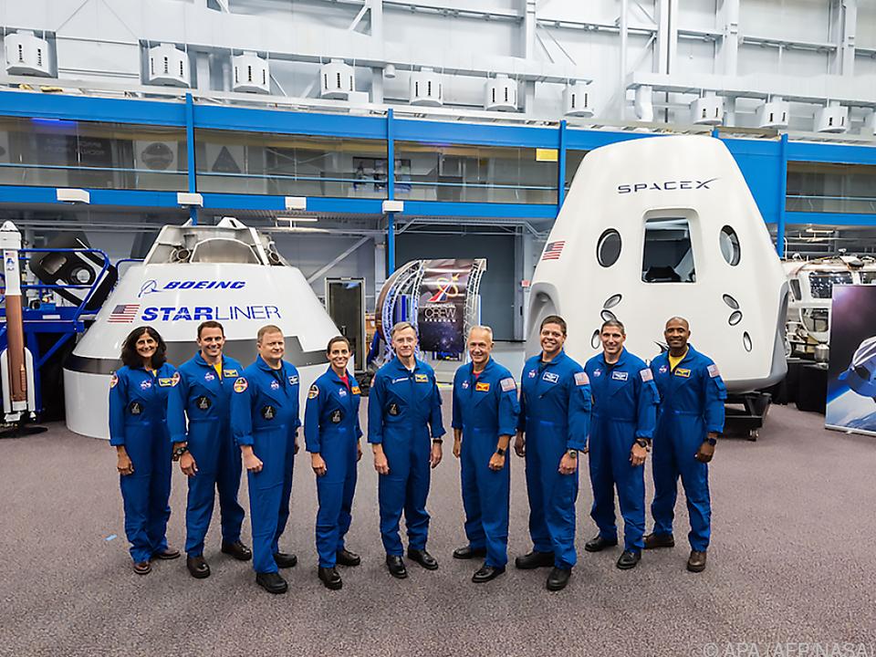 Die US-Astronauten stehen bereit