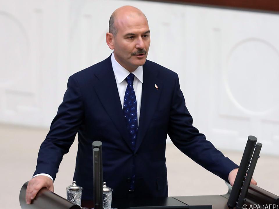 Die USA verhängten unter anderem Sanktionen gegen Innenminister Soylu