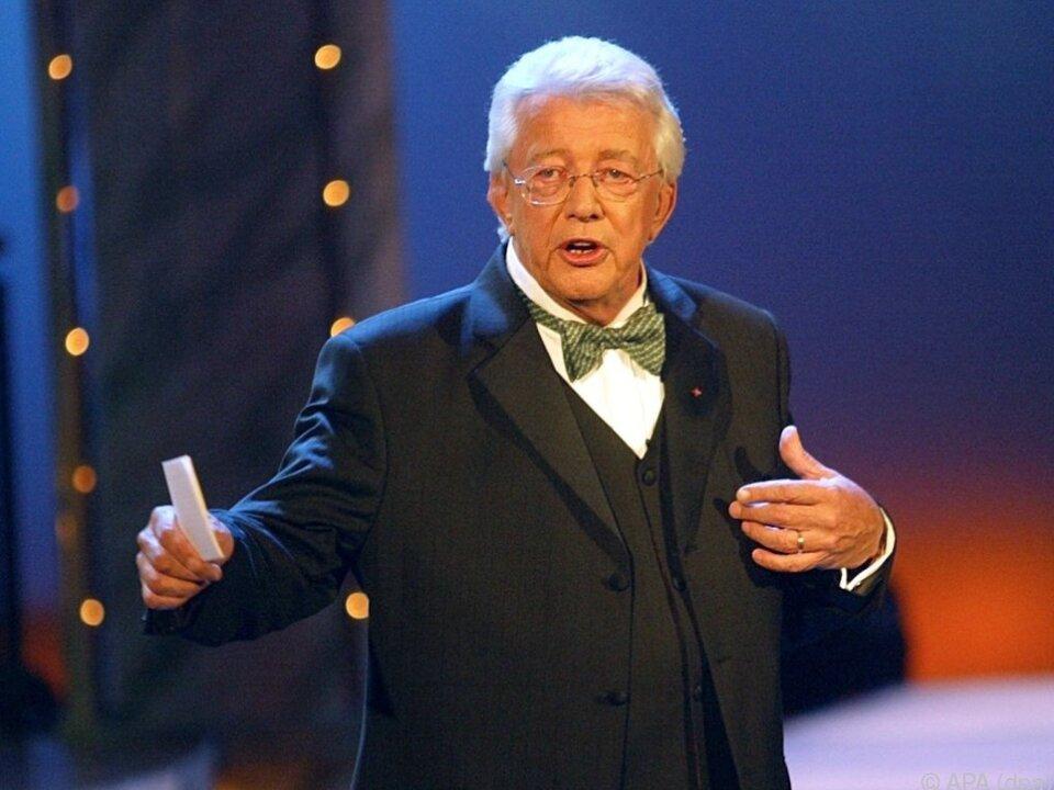 Dieter Thomas Heck in einer ZDF-Show im Jahr 2003
