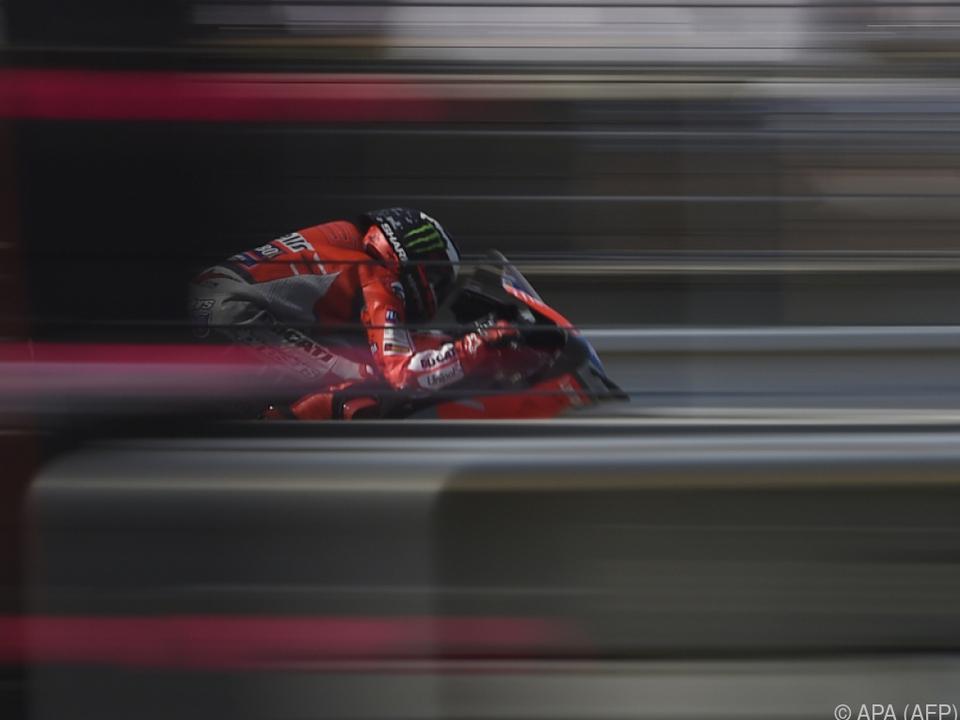 Ducatis bei Trockenheit am schnellsten