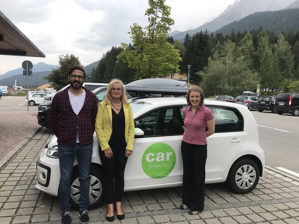 Carsharing, VW Up!, Toblach
