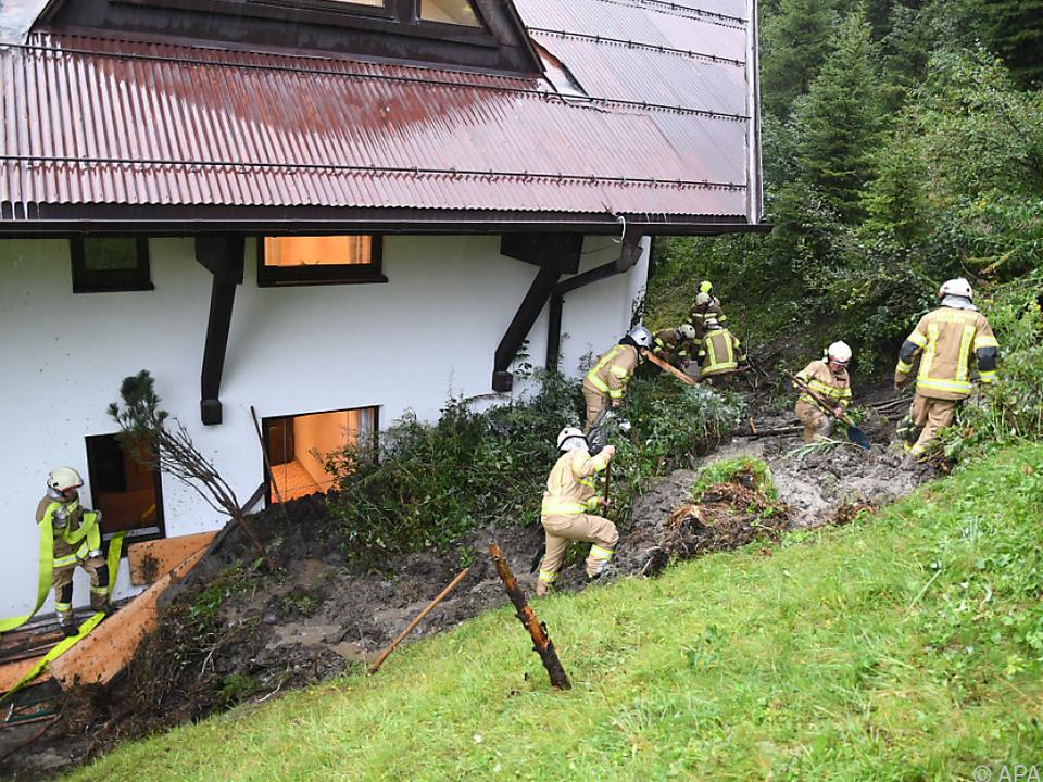Ein Murenabgang in Fügenberg traf eine Mitarbeiterwohnung eines Hotels