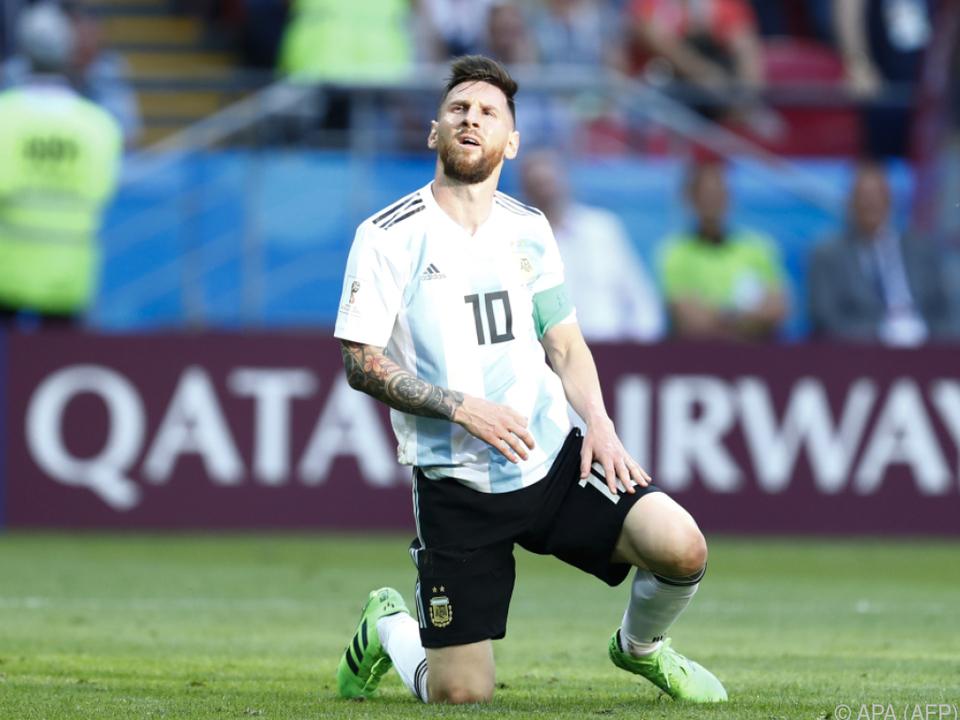 Eine Eingebung von oben? Messi nimmt sich eine Team-Auszeit