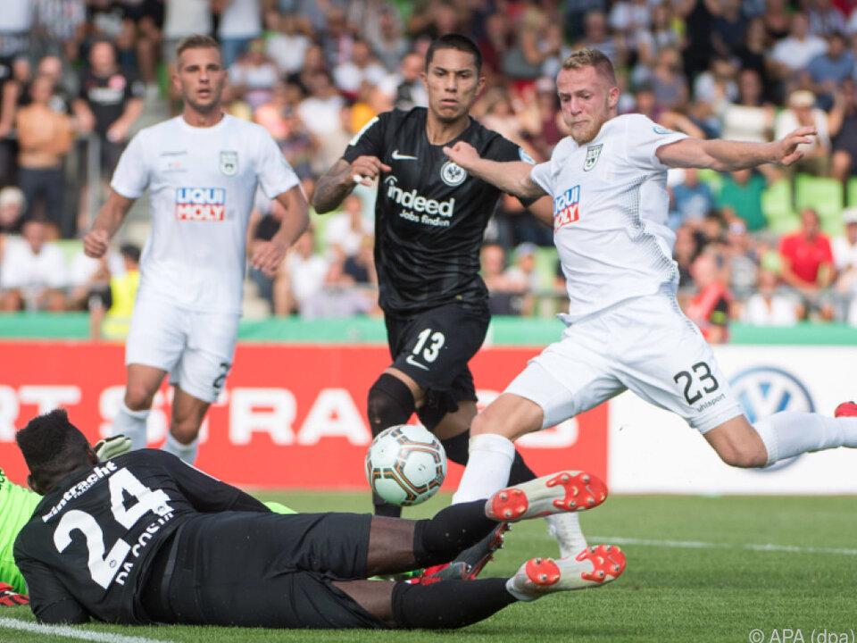 Eintracht Frankfurt frühzeitig ausgeschieden