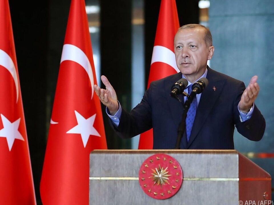 Erdogan wetterte gegen \