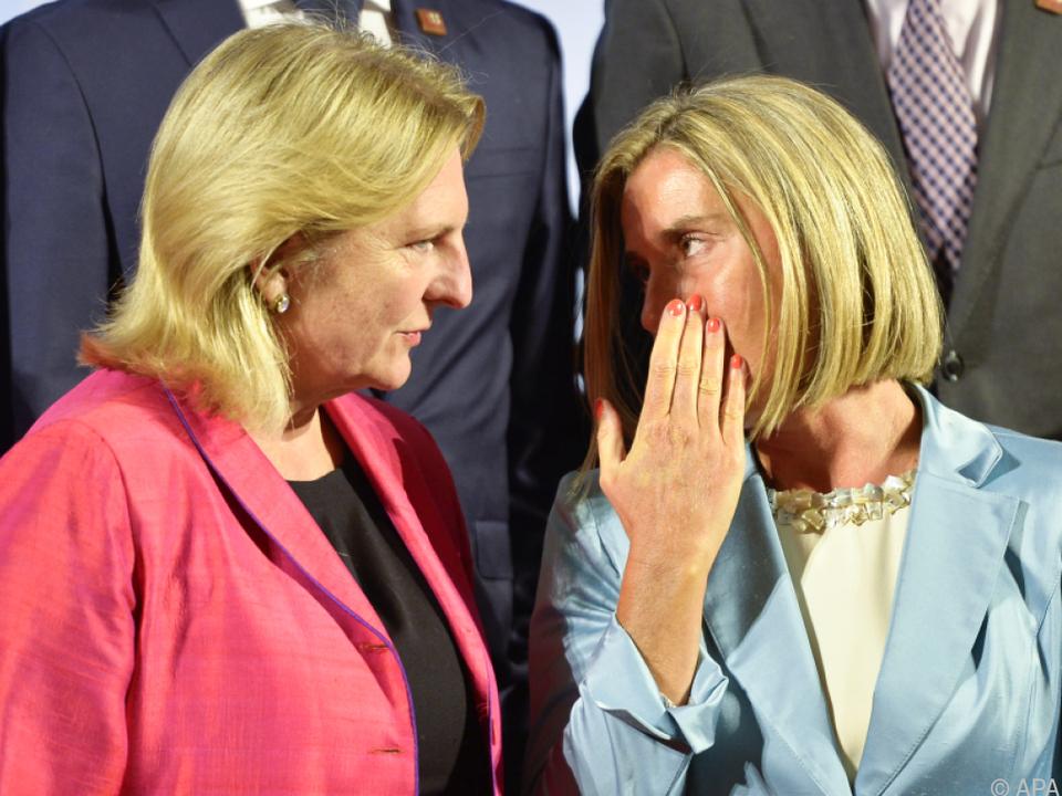 EU-Außenbeauftragte Mogherini traf auf Außenministerin Kneissl
