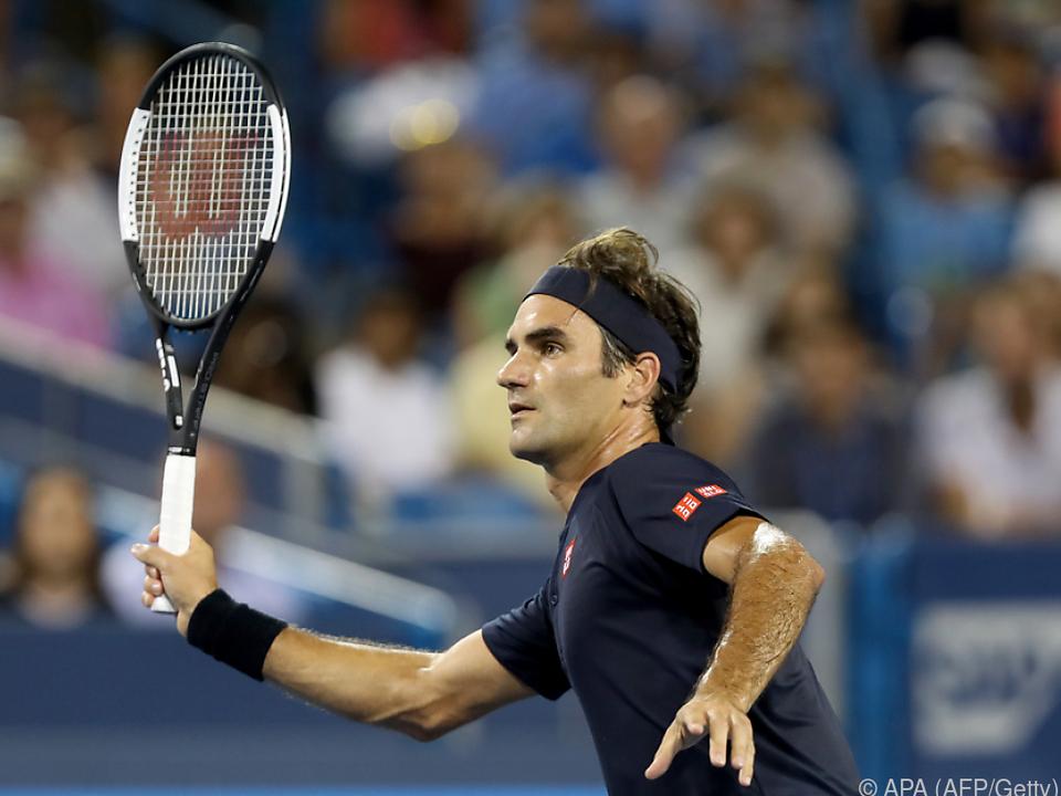 Federer schlug Warinka nach 2:16 Stunden mit 6:7(2),7:6(6),6:2