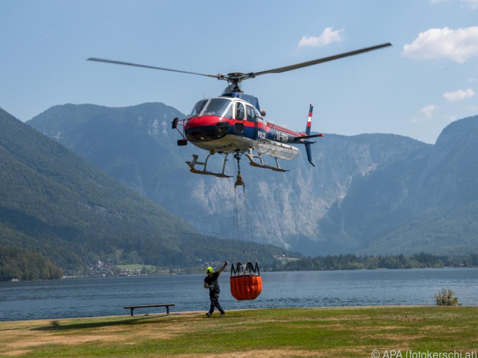 Hubschrauber waren wieder im Einsatz