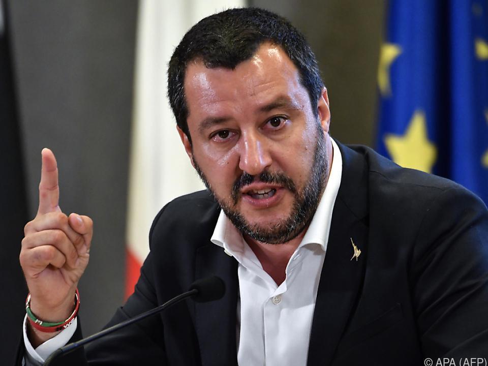 Innenminister Salvini stand zuletzt häufig in der Kritik