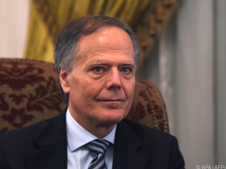 Italiens Außernminister Enzo Moavero Milanesi