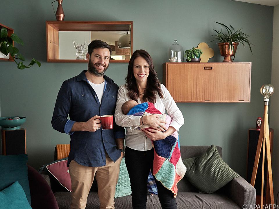 Jacinda Ardern und ihr Mann wurden vor sechs Wochen Eltern