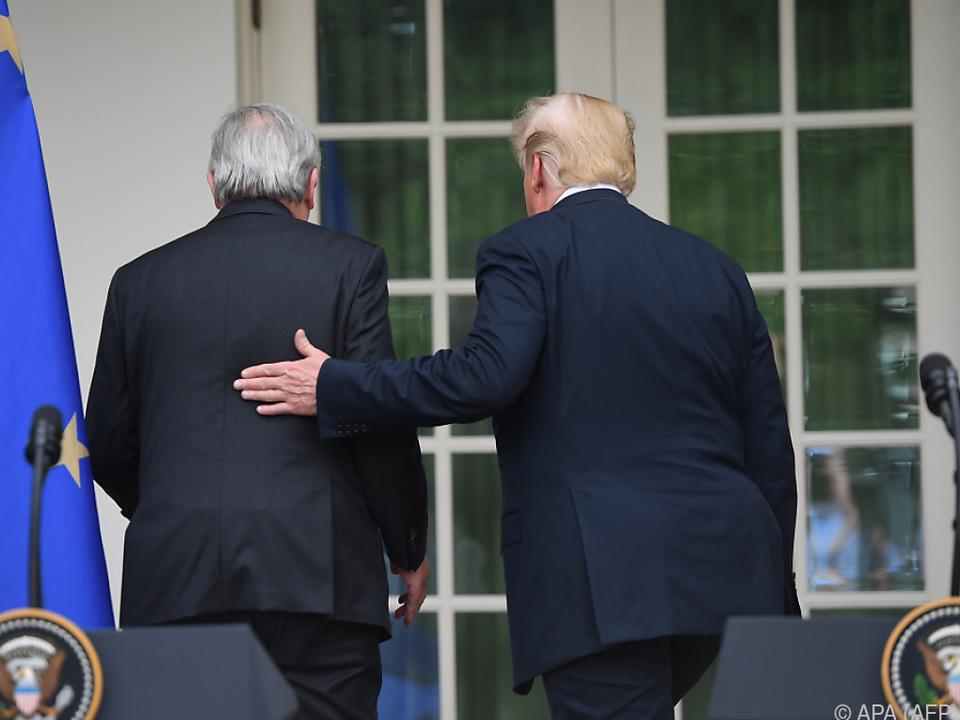 Juncker und Trump bei Treffen in Washington Ende Juli