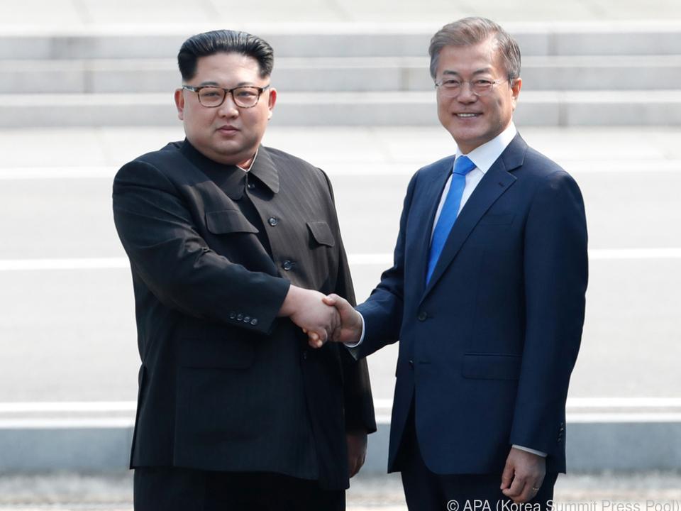 Kim und Moon trafen sich heuer schon zwei Mal
