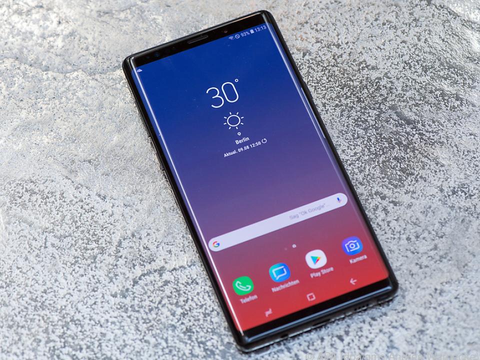 Klare Formen, viel Glas, kein Notch - das ist Samsungs Galaxy Note 9